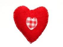 Red felt heart Stock Photos