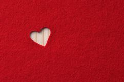 Red felt with heart Royalty Free Stock Images