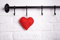 Red Felt Heart Royalty Free Stock Photo