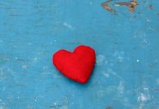 Red  felt heart Stock Photo