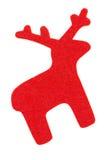 Red felt reindeer Stock Photography