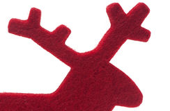 Red Felt Reindeer Silhouette Stock Images