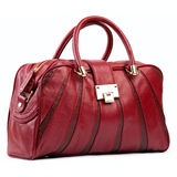 Red female bag Stock Photo