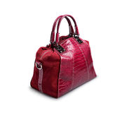 Red female bag-3 Royalty Free Stock Images