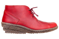 Red female boot Royalty Free Stock Image