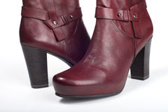 Red female boots Royalty Free Stock Photos