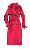 Red female coat Royalty Free Stock Image