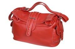 Red female handbag Stock Photo