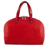 Red female leather bag isolated on white background Stock Image