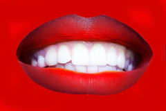 Red female lips Stock Photography