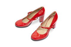 Red female shoes-15 Royalty Free Stock Photos