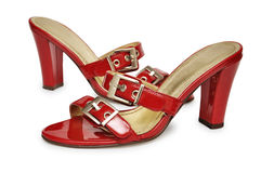 Red female shoes Royalty Free Stock Photography