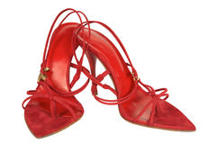 Red Female Shoes Stock Photo