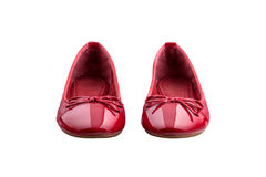 Red female shoes Royalty Free Stock Image