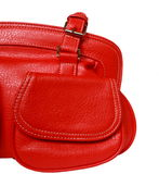 Red feminine bag Stock Photo