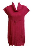 Red Feminine Knitted Gown Royalty Free Stock Photos