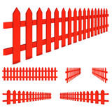 Red fence Royalty Free Stock Images