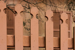 Red fence in Zihron Yaakov Stock Image