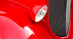Red fender classic car. Red fender and grill of a classic car Royalty Free Stock Images
