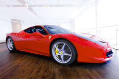Red Ferarri Royalty Free Stock Photo