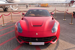 Red Ferrair F12 berlinetta Royalty Free Stock Photo