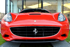 Red Ferrari California car front view Royalty Free Stock Images