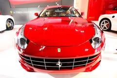 Red Ferrari FF. The Porsche 911 is from the German city of Stuttgart company produced cars porsche. Ferdinand Alexander Porsche ( Ferdinand Alexander Porsche ) Stock Photos