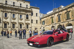 Red ferrari 348 in lecce Royalty Free Stock Photography