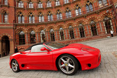 Red Ferrari Stock Photography