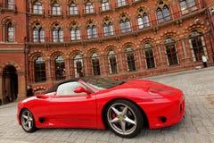 Red Ferrari stock photography