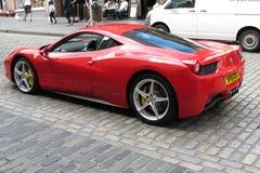 Red Ferrari Pininfarina car. EDINBURGH, SCOTLAND, UK - CIRCA AUGUST 2015: red Ferrari Pininfarina car in a street of the city centre Royalty Free Stock Photos