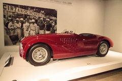 Red 1947 Ferrari 125 S. Los Angeles, CA, USA - July 23, 2017: Red 1947 Ferrari 125 S displayed at the Petersen Automotive Museum. Editorial use Royalty Free Stock Images