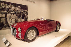 Red 1947 Ferrari 125 S. Los Angeles, CA, USA - July 23, 2017: Red 1947 Ferrari 125 S displayed at the Petersen Automotive Museum. Editorial use Royalty Free Stock Photo