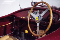 Red 1947 Ferrari 125 S. Los Angeles, CA, USA - July 23, 2017: Red 1947 Ferrari 125 S displayed at the Petersen Automotive Museum. Editorial use Royalty Free Stock Photos