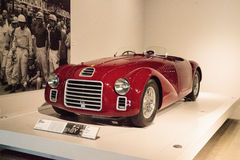Red 1947 Ferrari 125 S. Los Angeles, CA, USA - July 23, 2017: Red 1947 Ferrari 125 S displayed at the Petersen Automotive Museum. Editorial use Stock Image