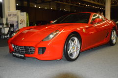 Red Ferrari in the showroom Royalty Free Stock Images