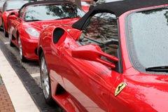 Red Ferrari supercars Stock Image