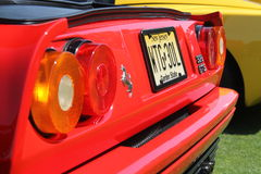 Red ferrari tail lamps Royalty Free Stock Photography