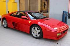 Red Ferrari 348 TS For Sale in Monaco royalty free stock photo