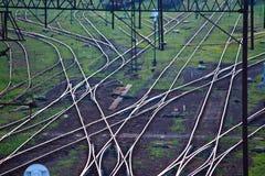 Red ferroviaria Imágenes de archivo libres de regalías