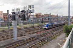 Red ferroviaria nacional francesa en Toulouse Imagenes de archivo