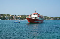 Red ferry Jumbo II Stock Photography
