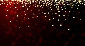 Red festive background with stars. Red festive background with yellow stars. Vector illustration Royalty Free Stock Images