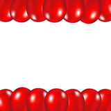 Red festive balloons background. Vector illustration on a white background Royalty Free Stock Photography
