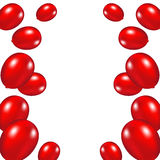 Red festive balloons background. Vector illustration on a white background Royalty Free Stock Image