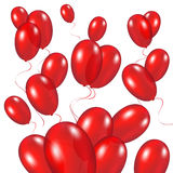 Red festive balloons background. Vector illustration on a white background Stock Image