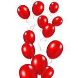 Red festive balloons background vector illustration on a white b. Ackground Stock Photo
