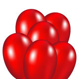 Red festive balloons. Vector illustration on a white background Royalty Free Stock Photos