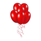 Red festive balloons. Vector illustration on a white background Royalty Free Stock Image