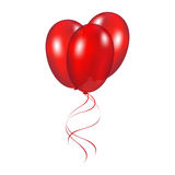 Red festive balloons. Vector illustration on a white background Stock Photography